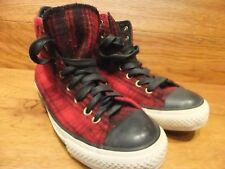 Converse CT All Star Red  Tartan Hi Top Trainers Size UK 6.5  EU 39.5