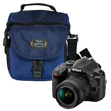 TAMRAC Padded Camera Bag Case for Nikon D3400 18-55 Lens Series (BLUE)