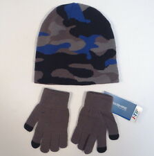 Berkshire Fashions Camo Knit Beanie & I-Tip Stretch Knit Gloves Adult One Size