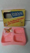 Marvelous Vintage RUDOLPH RED NOSED REINDEER - BABY FEEDING DISH - Original Box
