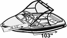 7oz BOAT COVER SANGER 20 DXII W/ SKI TOWER 2004-2006