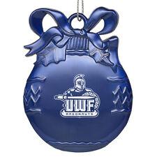 University of West Florida - Pewter Christmas Tree Ornament - Blue
