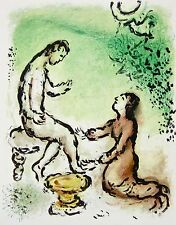 Ulysses and Euryclea (The Odyessy) 1989, Ltd Ed Lithograph, Marc Chagall