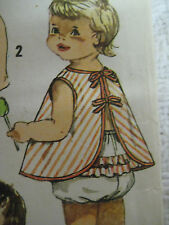 Vintage Simplicity 4018 APRON TOP w/ RUFFLE BUTT PANTIES Sewing Pattern Toddler