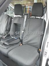 TO FIT A FORD TRANSIT  VAN SEAT COVERS 2016, BLACK  WATERPROOF