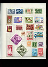 Hungary Album Page Of Stamps #V2748