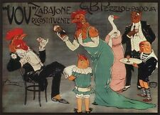 VOV ZABAJONE, 1910 Vintage Liquor Advertising Repro Rolled CANVAS PRINT 32x24 in