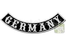 Aufnäher Biker Patch GERMANY  Bogen unten 35cm gestickt, Bottom Rocker , MC