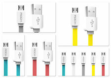 Rock Micro USB Cable Flat Wire Data Charging Cable for Android Phones 1M - White