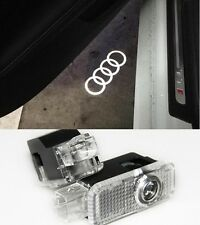 AUDI LOGO UNDER DOOR LED PUDDLE PROJECTOR GHOST LIGHTS A3 A4 A5 A6 A7 Q5 Q7 TT