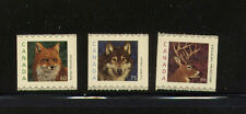 CANADA SC879-1881 WILDLIFE DEFINITIVE COILS OF FOX, WOLF & DEER MNH