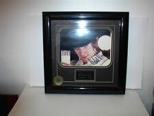 MALCOLM MCDOWELL FRAMED AUTOGRAPH A CLOCKWORK ORANGE BOUGHT WALT DISNEY CO.
