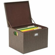 G.U.S. Premier Woven Rattan Office File and Storage Box