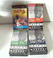 Billy Blanks Lot Of 4 Tae Bo VHS Videos Instructional Basic Exercise