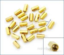 25pc 10mm M3 F-F Female Brass Hex Standoff Spacer Screw Separator Stand Off PCB