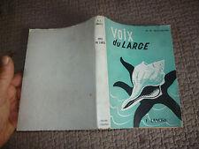 VOIX DU LARGE M.R.Bonneville Poésie Marine autour de la Mer et du Bateau 1956