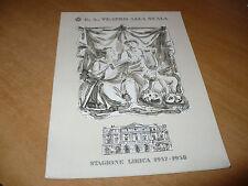 TEATRO ALLA SCALA STAGIONE LIRICA 1957-1958 IL CONVITATO DI PIETRA ZACCARIA
