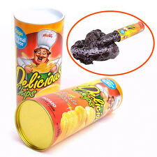 1 Pcs Trick Potato Chip Can Novelty Joke Prank Jump Snake Funny Tricky Toys FG