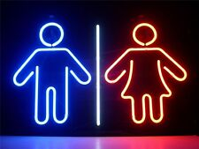 """17""""x14""""MAN LADY Glass Real Neon Light Sign Display Beer Bar Pub Store Club"""