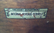 Vintage/Antique Wooden Swivel Chair used/owned by the Internal Revenue System!