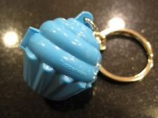 Tupperware Key Chain Keychain Collectible Blue Cupcake Keeper Very Rare New