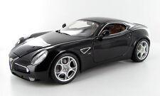 Bburago 1/18 Scale Alfa Romeo 8C Competizione Black Diecast Car Model 12077