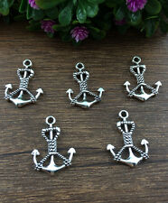 Wholesale 8pcs Tibet silver Anchor Charm Pendant beaded Jewelry Findings !!!!