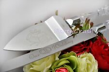 Elegant Our Wedding Cake Knife and Server Set Boda Pala Y Cuchillo