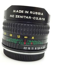 Fisheye MC Zenitar C2,8/16 MC Lens  AI SLR Camera made In Russia