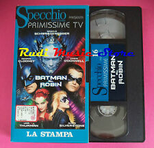 VHS film BATMAN & ROBIN Uma Thurman George Clooney SPECCHIO (F92) no dvd