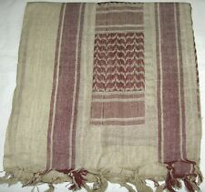 SHEMAGH ARAB SCARF KEFFIYEH FASHION SCARF 100% Cotton KAKI AND BROWN