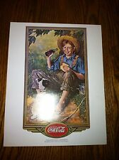 Set Of 4 Norman Rockwell Coca-Cola Lithographs, 1970s, Beautiful