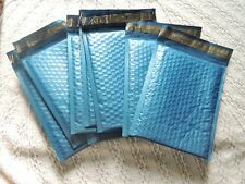 50 Metallic Blue 4x8 Bubble Mailers, Padded Bubble Shipping Mailing Envelopes
