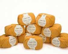 10 x 50g Amber yellow  Debbie Bliss Rialto Aran - 100% Merino