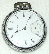 Antique WALTHAM A.W.W. Co. Art Deco Model 1899 7 Jewel 16S Silver Pocket Watch