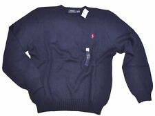 RALPH LAUREN POLO MEN CREW NECK JUMPER CAREER SWEATER BUSINESS PULLOVER L or XL