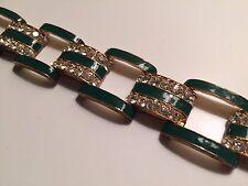 J. Crew Green Enamel Bracelet