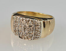 #4742 - Size 12.5 - Mens - 10K Gold & Dimaond Ring - 1.5carat