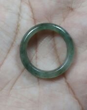 Natural  Grade A  Jadiete  Jade ring stone carving  Size 8.25 A767