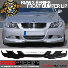 2006-2008 BMW E90 3 Series AC-S Style Front Bumper Lip Unpainted - Poly Urethane