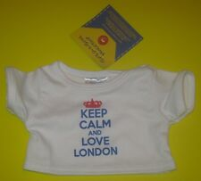 New Build-A-Bear KEEP CALM AND LOVE LONDON TEE SHIRT UK England Exclusive