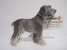 16306-1  Schleich Dog: Schnauzer light !with booklet! RARE  ref:1D269