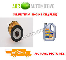 DIESEL OIL FILTER + LL 5W30 ENGINE OIL FOR SMART FORTWO 0.8 54 BHP 2009-