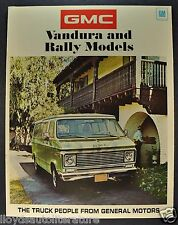 1971 GMC Trucks Vandura & Rally Wagons Folder Sales Brochure Original 71 Van