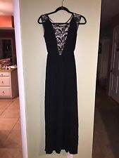Edge by Jen Rade Silk Blend & Lace Maxi Dress Size 2 NEW!! QVC $275 on air