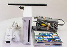 Nintendo Wii White Console System Bundle Gamecube Compatible Working RVL-001
