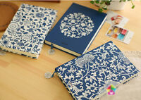 Blue White Porcelain Vintage Personal Diary Planner Notebook Writing Journal New