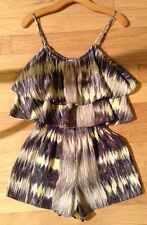parker size small romper shorts 100% silk