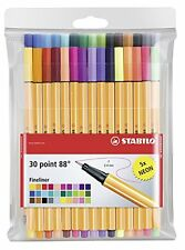 Stabilo Point 88 Fineliner Marker Pen 0.4mm - 30 Color Pack - 25 + 5 NEON Colour