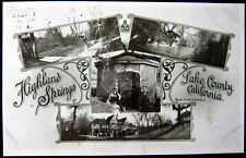 HIGHLAND SPRINGS CA ~ LAKE COUNTY ~ 1913 HOTEL ~ FISHING & MORE !